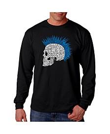 Men's Word Art - Punk Mohawk Long Sleeve T-Shirt