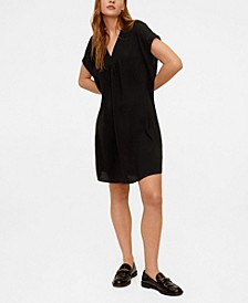 V-Neckline Short Dress