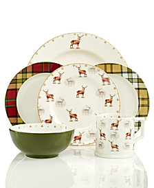 Spode Dinnerware Glen Lodge Collection  sc 1 st  Macyu0027s & Holiday Dinnerware - Macyu0027s
