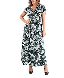 Women's Plus Size Circlet Print Dress
