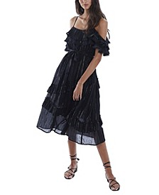 Women's Metallic Stripe Dress
