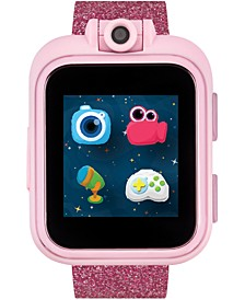 Kid's PlayZoom Pink Glitter Polyurethane Strap Touchscreen Smart Watch 52mm x 42mm