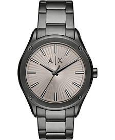 Men's Fitz Gray Stainless Steel Bracelet Watch 44mm