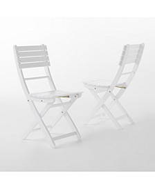 Positano Outdoor Foldable Dining Chairs, Set of 2