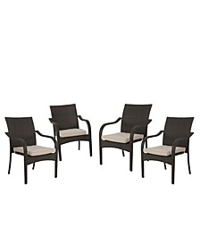 Kamal Stacking Chairs, Set of 4