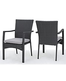 Corsica Outdoor Dining Chair with Cushions, Set of 2