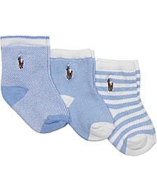 Baby Boys 3-Pk. Oxford Socks