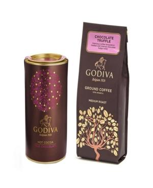 Godiva Chocolate Truffle Coffee and Milk Chocolate Cocoa Gift Set