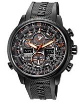 bf120b5485f Citizen Men s Eco-Drive Navihawk A-T Black Polyurethane Strap Watch 48mm  JY8035-04E