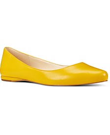 Speakup Almond-Toe Flats