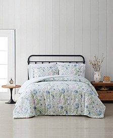 Field Floral Full/Queen 3 Piece Comforter Set