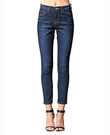 High Rise Regular Hem Skinny Ankle Jeans