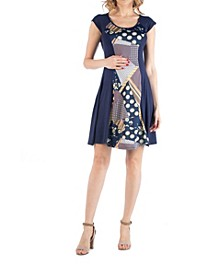 Multiprint Patchwork Detail Maternity Dress