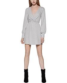 Faux-Wrap Mini Dress