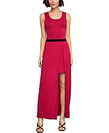 Layered-Look Maxi Dress