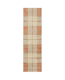 "Arcadia ARC14 Orange 2'3"" x 7'6"" Runner Rug"