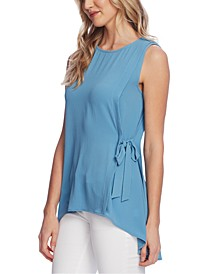 Petite Sleeveless Tied High-Low Top