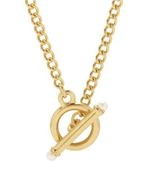 Stella Imitation Pearl Toggle Chain Necklace