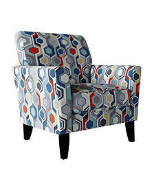 Handy Living Adrian Flared Arm Chair