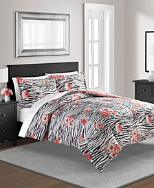 The Exotic Floral Full/Queen Reversible Comforter Set