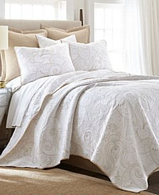 Perla Embroidered Twin Quilt Set