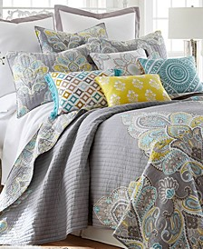 Cressley Damask Reversible King Quilt Set