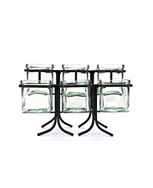 6 Compartment 2 Tier Condiment Server Jar Stand