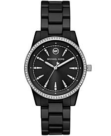 Ritz Three-Hand Black Ceramic Watch