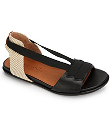 by Kenneth Cole Women's Lark Elastic Flat Sandals