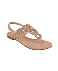 Kali T-Strap Flat Sandal