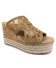 Evie Platform Woven Wedge Sandals