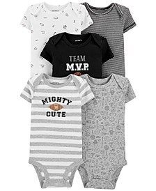 Baby Boys 5-Pk. Cotton Sports Bodysuits