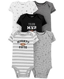 Baby Boys 5-Pk. Cotton Sports Bodysuits
