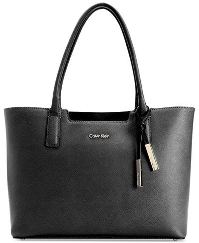 Calvin Klein Saffiano Leather Tote Handbags Accessories Macy S