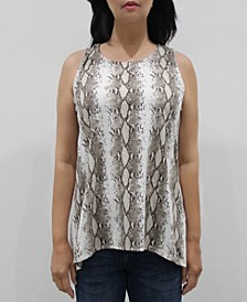 Women's Python Button Back Tank Top