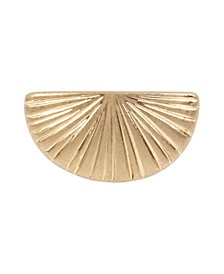 Textured Signet Ring in Gold-tone Metal