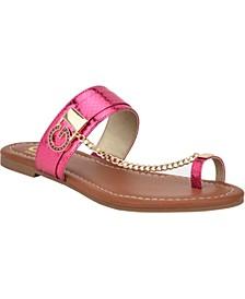 Loona Toe Thong Flat Sandals