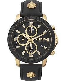 Men's Chronograph Bicocca Black Leather Strap Watch 46mm