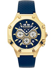 Men's Chronograph Palestro Blue Leather Strap Watch 45mm