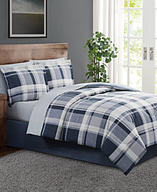 Chambray Plaid  Queen 8PC Comforter Set