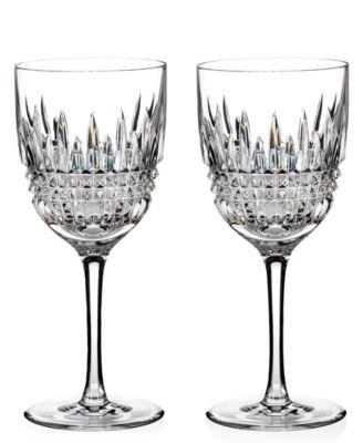Stemware Lismore Diamond Goblets, Set of 2