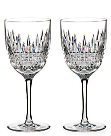 Waterford Stemware Lismore Diamond Goblets, Set of 2