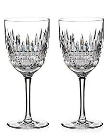 Waterford Stemware Lismore Diamond Goblets, Set of 2