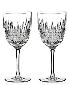 Waterford Stemware Lismore Diamond Goblet Pair