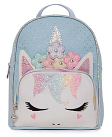 Big Girls Miss Gwen Unicorn Perforated Mini Backpack with Flower Crown