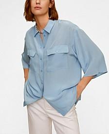 Pockets Flowy Shirt