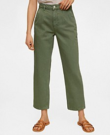 Cropped Darts Jeans