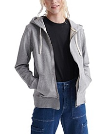 Women's Organic Cotton Standard Label Loopback Zip Hoodie