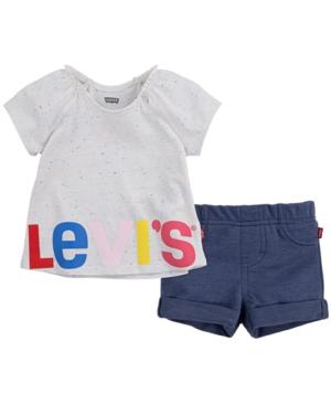 Levi's BABY GIRLS FLUTTER SHORT SET, 2 PIECE