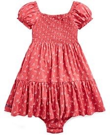 Baby Girls Smocked Floral-Print Cotton Dress